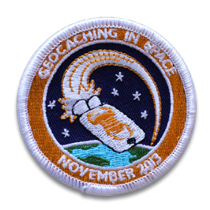 Official Geocaching In Space Mission Patch